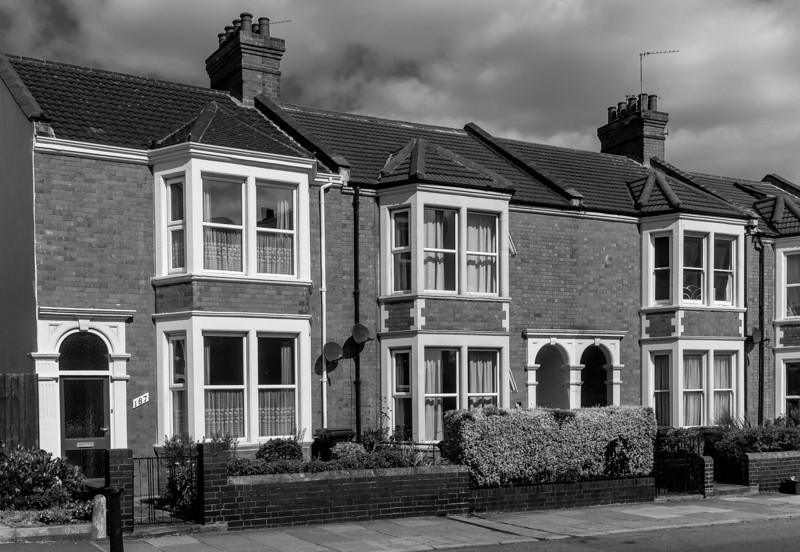 Edwardian Terrace, Abington Avenue,  Northampton, August 2013