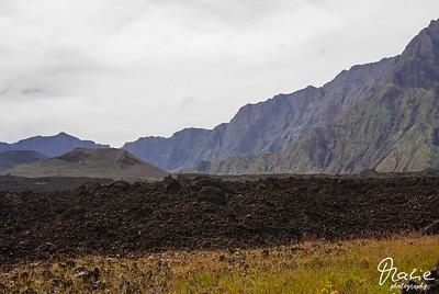 landschaft auf fogo  cabo verde