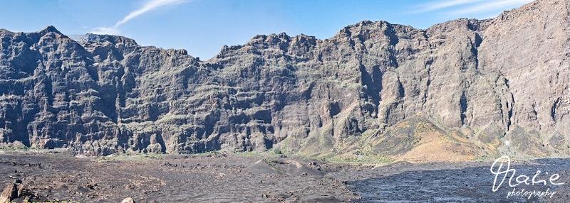 landschaft auf fogo  der calderarand von innen  cabo verde