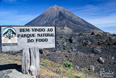 landschaft auf fogo - pico do fogo  cabo verde