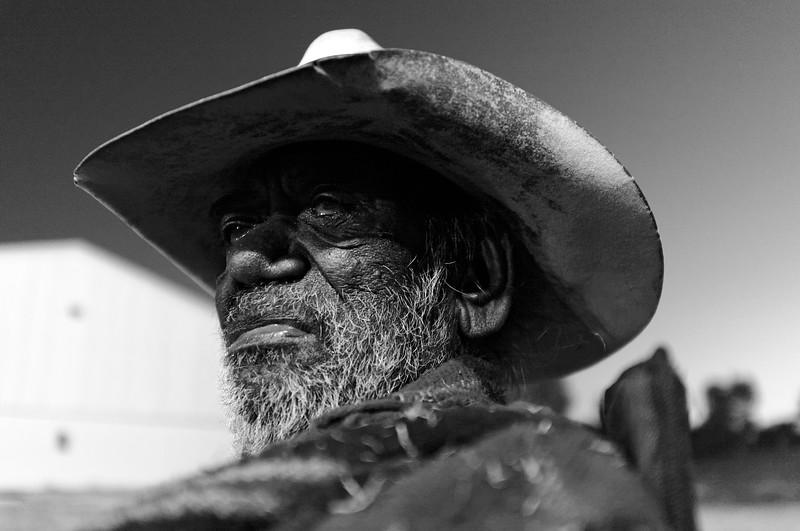 Portrait d'un vieil Aborigène à Fitzroy Crossing. Kimberley/Australie Occidentale/Australie