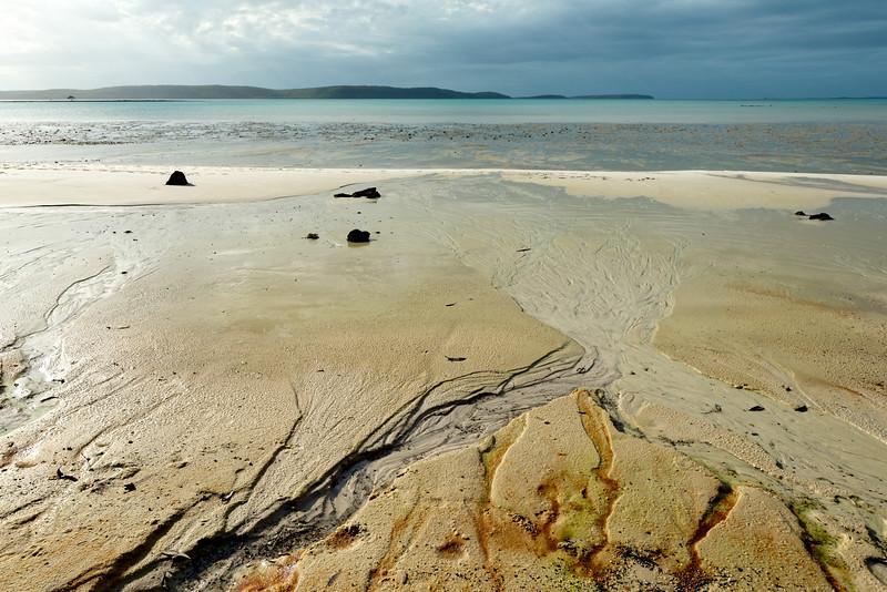 La plage de Gikal face à la mer d'Arafura. Terre d'Arnhem/Territoire du Nord/Australie