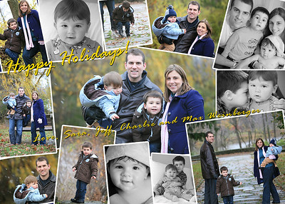 "Holiday cards and other special collages can be added to your session for $100.  Photo books start at $200. See the ""special projects"" galleries for ideas and examples."