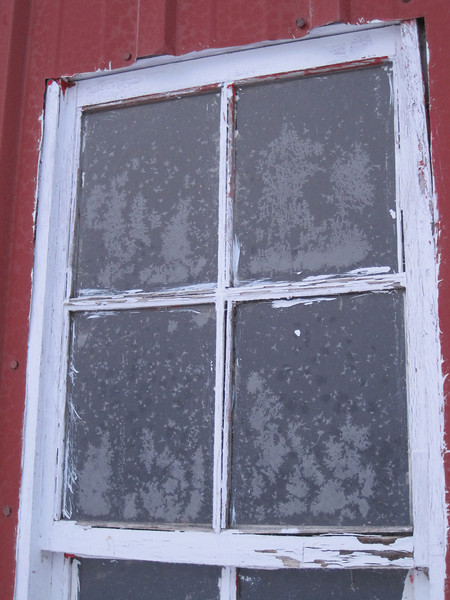 Window with frost