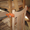 Building a Chair - Pressure Clamps Glue Dowelled Pieces Together
