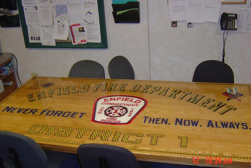 Enfield Fire Department Table
