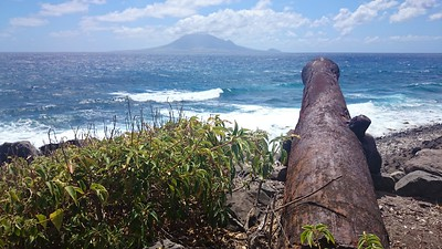 Mapping historical forts and batteries. St. Eustatius, Caribbean, 2015.