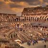 Roman Colosseum In The Rain