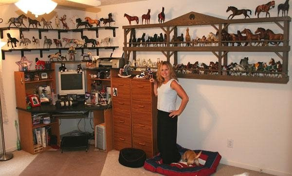 This is a photograph of my home office that was taken several years ago. (I have collected quite a few more Breyer Models since this image was taken.) I have been collecting Breyer Model Horses for over thirty years. In 2006 I was chosen by Breyer/Reeves International to photograph their exciting Breyerfest event at the Kentucky Horse Park. I have been their official Breyerfest photographer for the past three years. I love Breyer Model horses, love the company, and love Breyerfest. I feel blessed to be a huge part of this amazing event each year at the world famous Kentucky Horse Park.