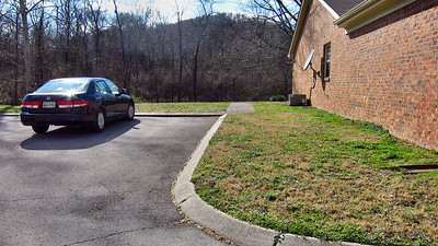 My view as I walk my daily 1.5 mile walk at home in Franklin, TN.  No, this is not my Honda.  It just looks like it--note no Titans license plate.