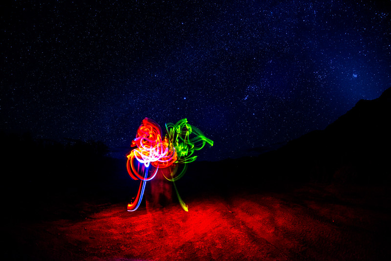 Zoey's light painting masterpiece