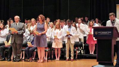Great Niece Kellie Abbott's White Coat Ceremony at ETSU in Johnson City , TN