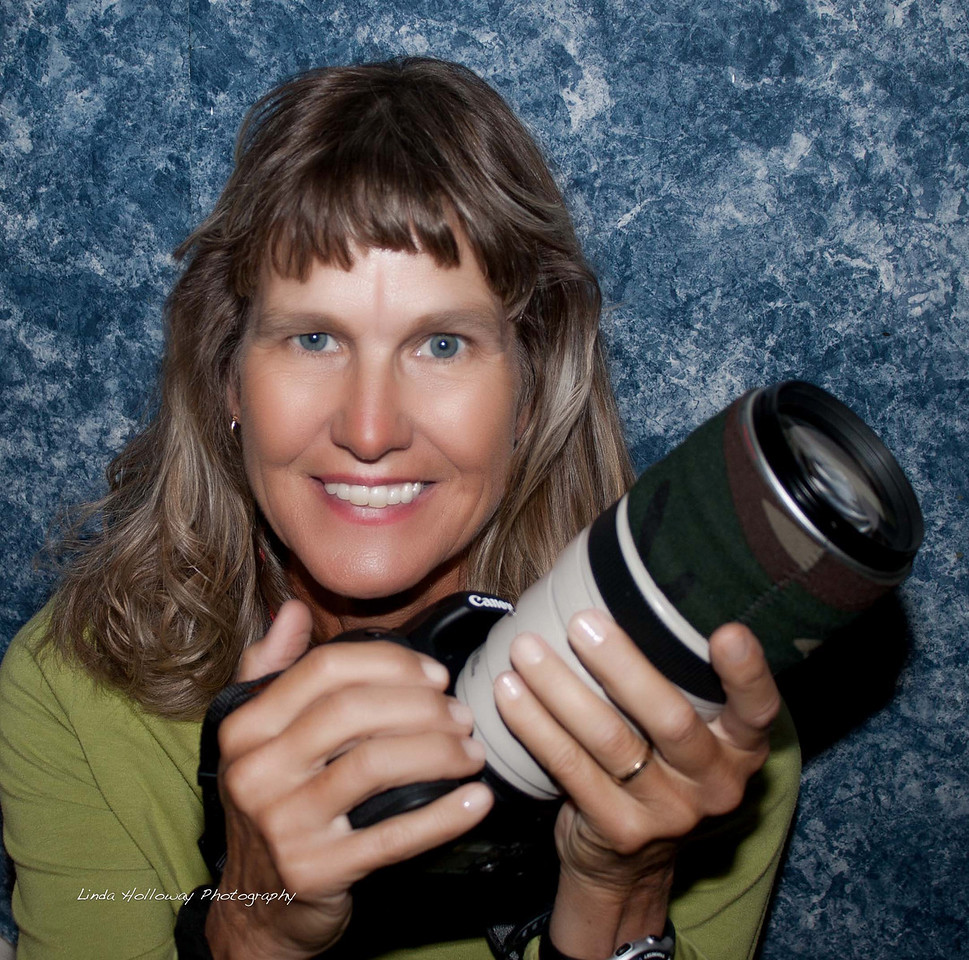 Linda with her Canon Lens 100-400