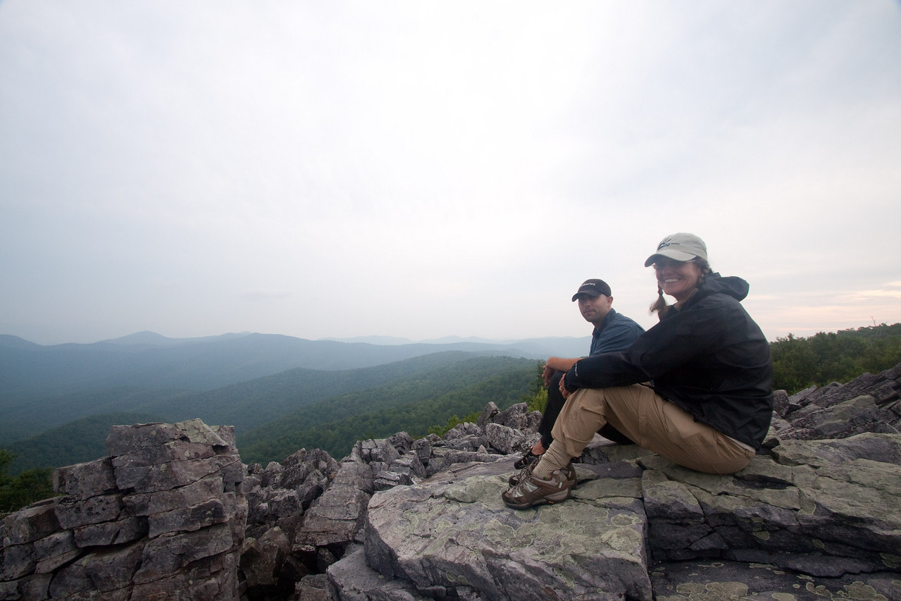 Linda and her instructional photo tour teacher, Joseph Rossbach.  Linda was in Shenandoah National Park.
