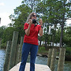 Linda taking pictures at Lincoln Park, Valparaiso, Fl