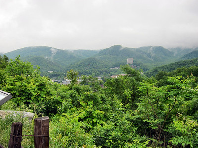 Family Trip in Pigeon Forge, TN - Gatlinburg overlook in Great Smoky Mountains National Park