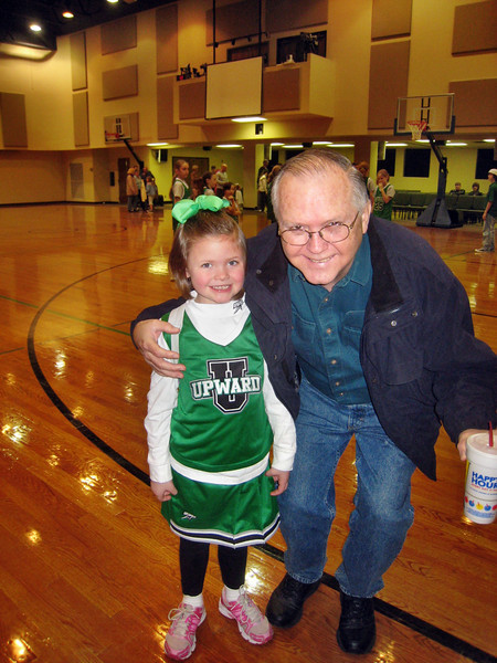 Cheerleader Macy Young and Reagan after Upward Basketball Game February 2009