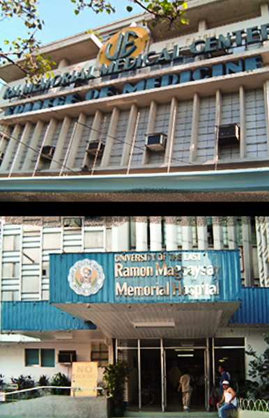 My Alma Mater. Picture of the University of the East Ramon Magsaysay College of Medicine above and the Medical Center below. <br /> <br /> I come from a family of doctors. My youngest brother and Mom were also graduates of the College. My brother served as a beloved Ophthalmologist consultant there, before succumbing to a cerebral aneurysm.<br /> <br /> My dad was a cardiologist, a product of Manila Central University. My other brother and cousin studied at the University of the Philippines College of Medicine.