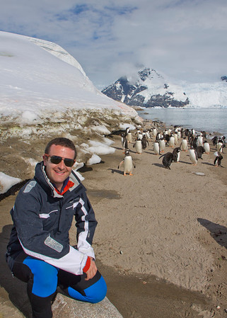 Me with the penguins