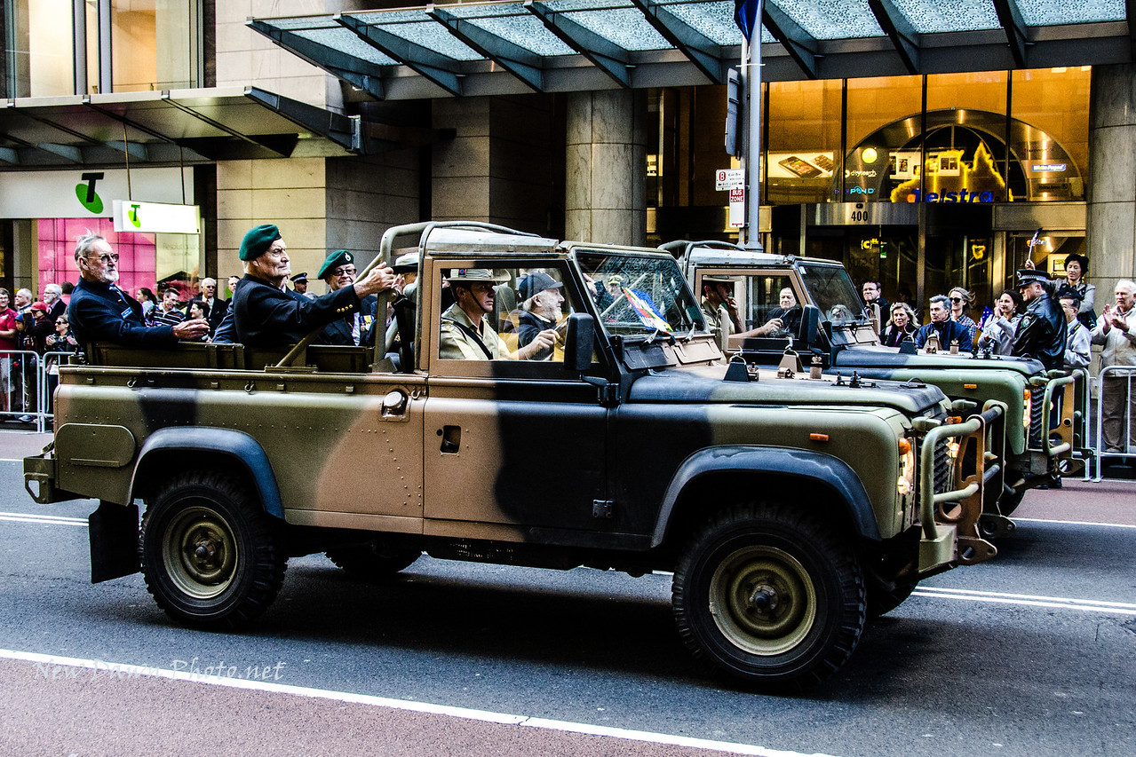 ANZAC Parade similar to our Memorial Day Parade. The Parade recognizes Australia's veterans. The Parade was preceded by a ceremony at dawn, then the 4 hour parade, then a closing ceremony at the ANZAC Memorial. They are serious about ANZAC Day in Australia!