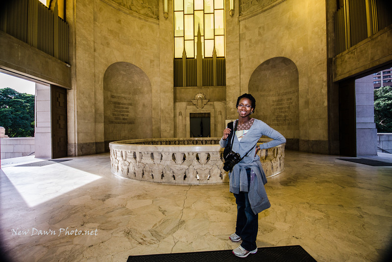 Alesha in the ANZAC Memorial