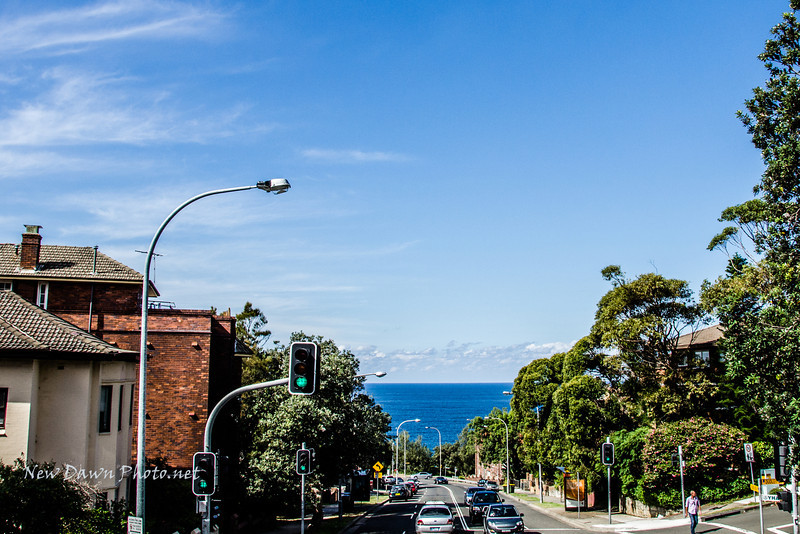 The street leading to Bondi Beach. I absolutely LOVE Bondi Beach!
