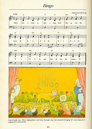 My song-list is a vast collection that represents a life-time of learning and collecting and includes: <br /> <br /> classic childrens' folk songs<br /> nursery rhymes<br /> popular songs<br /> show tunes<br /> <br /> counting songs<br /> finger plays<br /> circle-games <br /> <br /> hello songs <br /> goodbye songs<br /> nonsense songs <br /> <br /> songs about bugs <br /> birds, fish, whales<br /> and things that go<br /> cars, buses, and trains <br /> <br /> songs of the seasons and the natural world<br /> lullabies <br /> songs my mother taught me<br /> songs I have composed<br /> songs that feed the soul<br /> songs in French, Spanish, and Hebrew <br /> <br /> We will sing the songs of Woody Guthrie, Tom Chapin, Pete Seeger, Lennon and McCartney, Simon and Garfunkle, and Raffi, to name just a few.