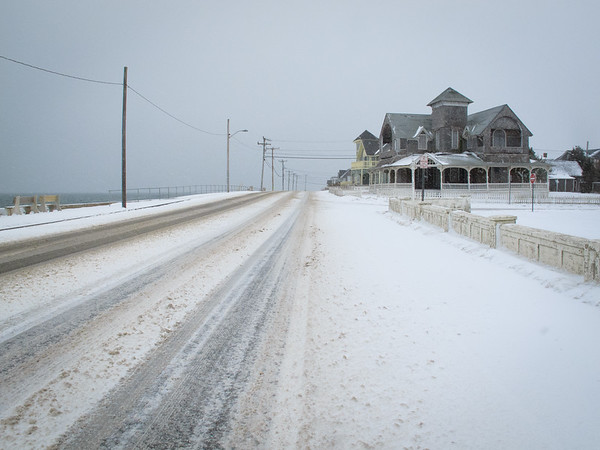 February 1, 2011; Seaview Avenue, Oak Bluffs; Jonathan's birthday. This has been a very snowy and stormy winter, so far. I love this stretch of road.