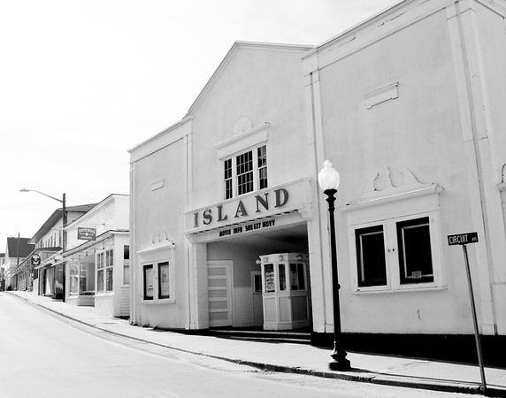 January 26, '09: Island Theater, Oak Bluffs. Winter street-scape.