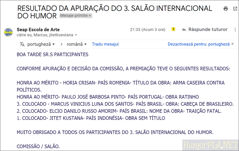 14.08.2018: The Winners - Seap Escola de Arte, Sao Paolo, Brazil, 2018