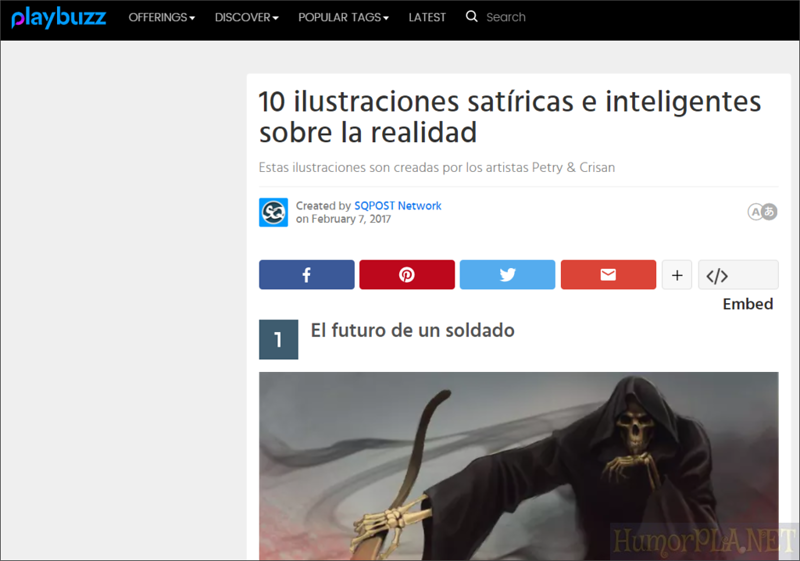 Published in Playbuzz - Spain