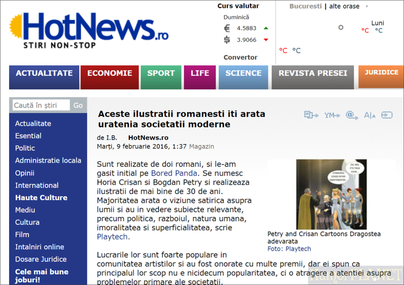 Published in Hot News - Romania