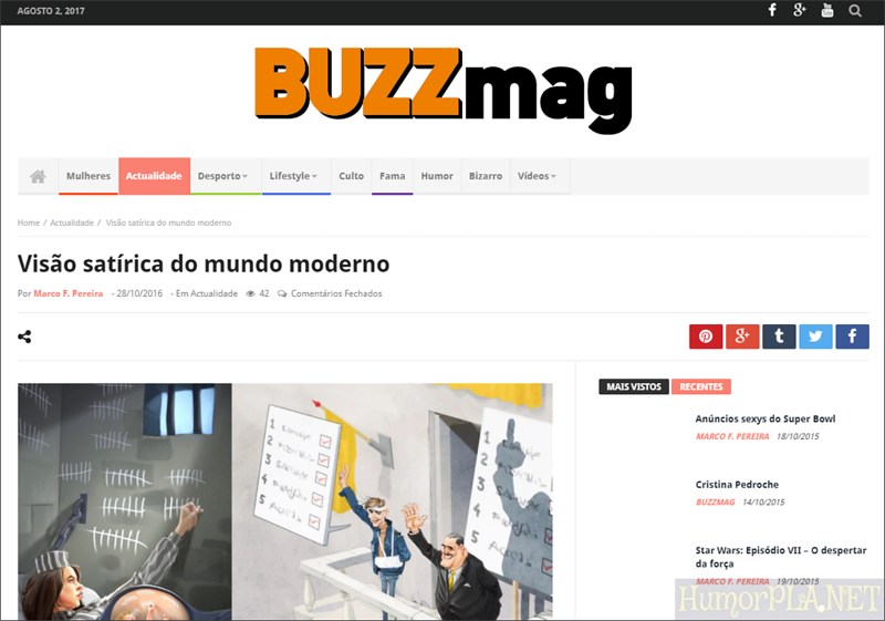 Published in Buzzmag, Portugal