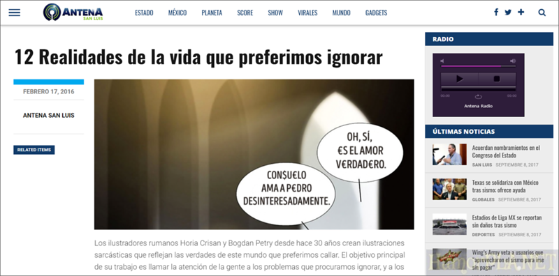 Published in Antena San Luis, Mexico