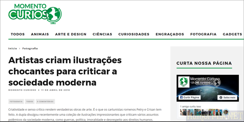 Published in Momento Curiosos - Brazil