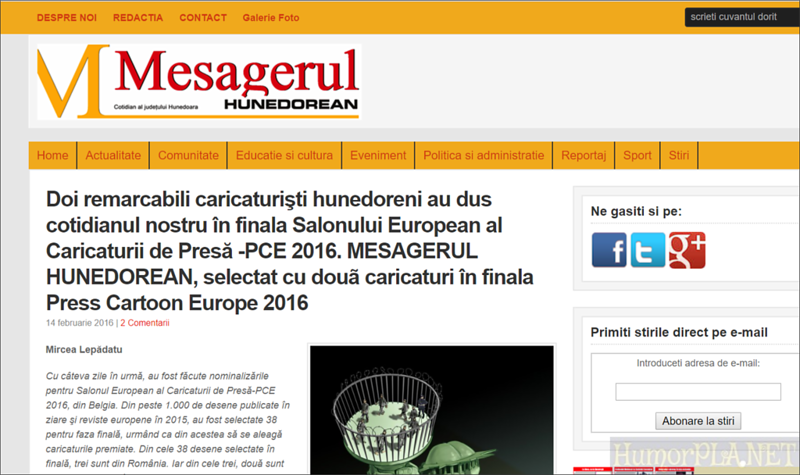 Published in Mesagerul Hunedorean - Romania