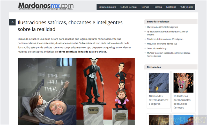 Published in Marcianosmx - Spain