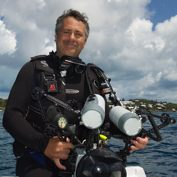 ALAN MARQUARDT was born in Paget, Bermuda and started his career as a professional scuba diver and diving instructor in 1980. His interest in underwater photography was inspired by his friend the late Laurence Gould, who was himself an award-winning underwater photographer and who introduced Alan to the field. A love of photography and marine life have taken Alan to many corners of the world, where he has dived extensively exploring the ocean's reefs and wrecks. Alan is a substantially self taught artist with his own individual style. His young growing family and commitments took Alan out of the professional world of diving during the 1990's, but he has continued to pursue his own personal diving experiences and explore his passion for the underwater world through his photography. Alan's work has been selected many times for local publications such as the Bermuda telephone directory, Bermudian Magazine, BF&M Calendar and many tourist publications by the Bermuda Department of Tourism. In February of 2008, Alan produced his first solo underwater photography exhibition which was held in Hamilton, Bermuda and he continues to research all avenues of presenting his work to members of the public.<br /> Thanks, Alan