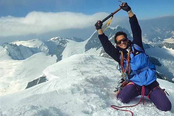 1994, me on the Mönch summit (4.105m), Switzerland
