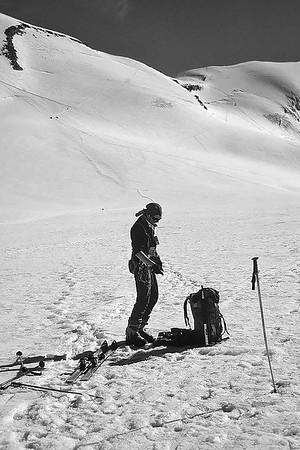 Climbing Western Breithorn (4.165m), Italy