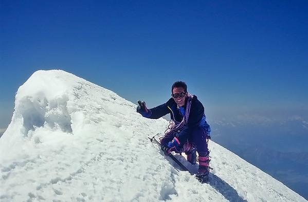1994: summit of Schwarzhorn (4.322m), Alps, Italy