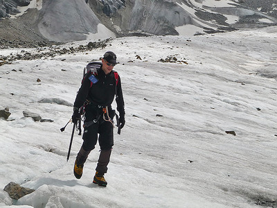Me descending the Morteratsch glacier, Bernina range, Switzerland