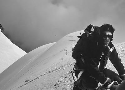 1994, me on the summit of Parrotspitze (4.432m), Monte Rosa, Italy