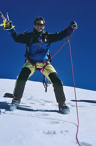1996,  me on the summit of Roccia Nera (4.075m), Italy