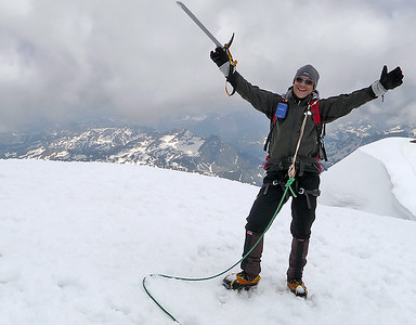 Me on the Piz Palù, central summit (3.901m), Switzerland