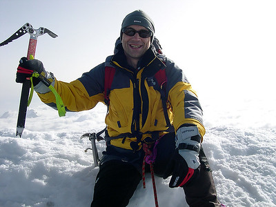 2008, self portrait on the summit of Weissmies  (4.023m), Switzerland