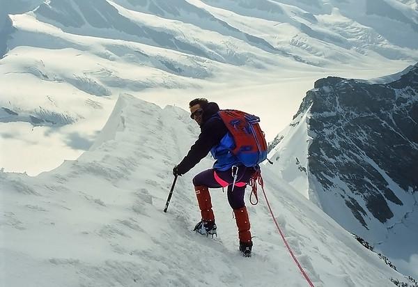 1994, climbing Mönch (4.105m), Oberland, Switzerland