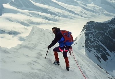 1994, climbing Mönch (4.105m), Oberland, Switzerland
