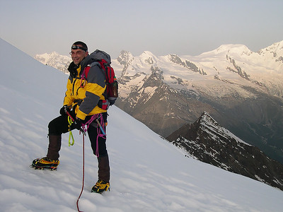 Me climbing Weissmies (4.023m), Valais, Switzerland
