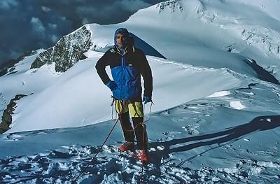 Me climbing Western Lyskamm (4.481m), Italy